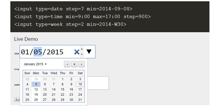 HTML5 date input