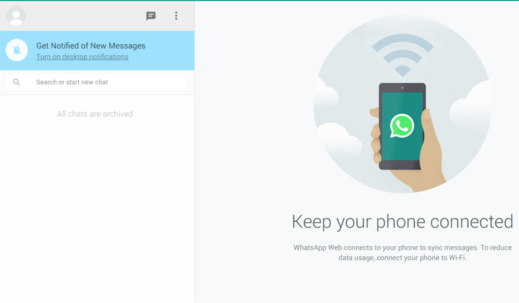 WhatsApp Web functional