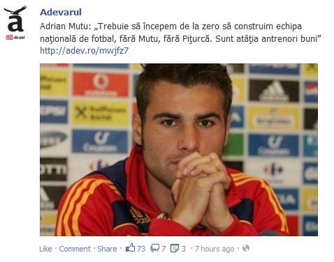 Adrian Mutu despre Victor Piturca si echipa nationala