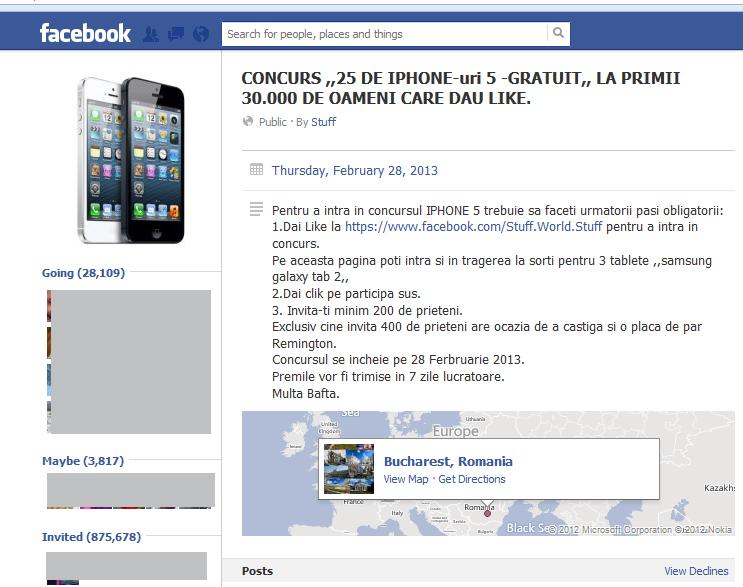 Scam pe facebook