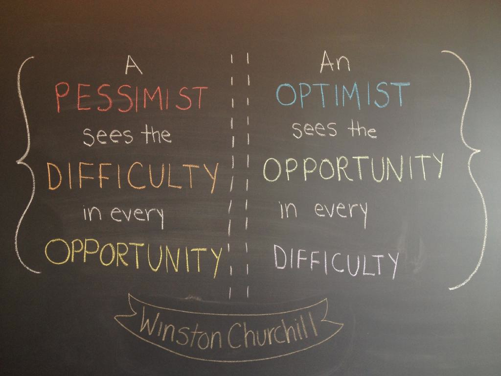 Un citat: optimist vs pesimist