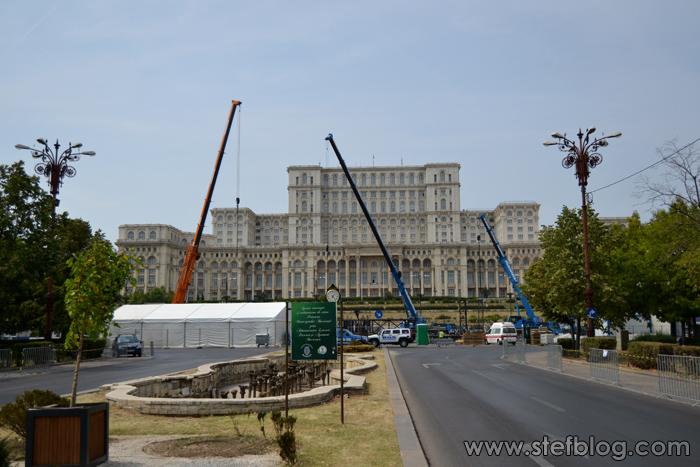 Scenă concert Roger Waters - București