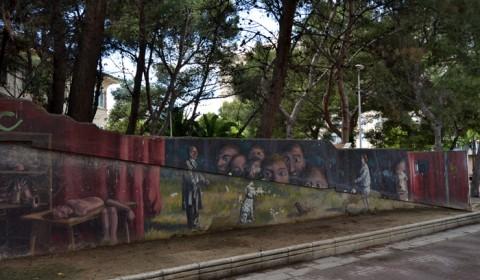 Street Art - Cu câinii la Plimbare prin Zaragoza
