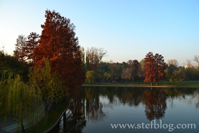 Parcul IOR, toamna, lac, culori